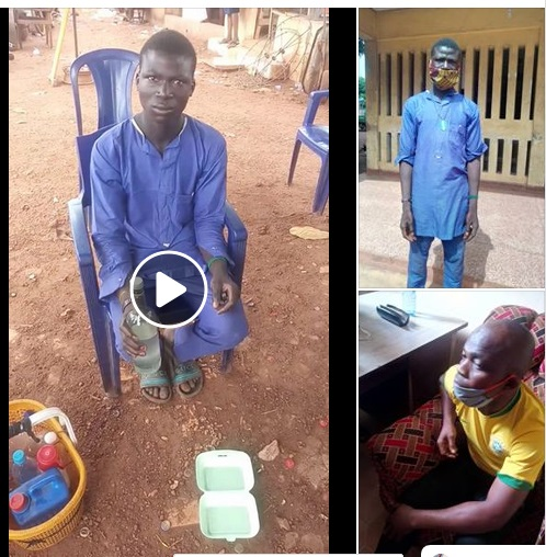 A Fulani Boy Caught Marketing Chemical Substance As A Chest Cleanser In Enugu