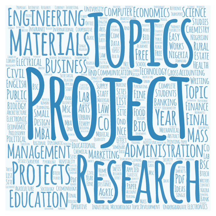 Final Year Project Topics & Research Material